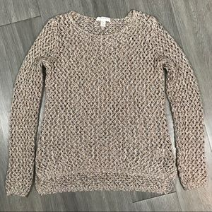 Kenar Open Weave Metallic Lightweight Sweater